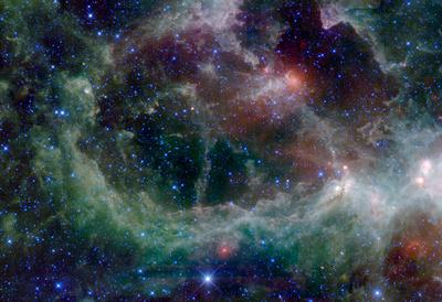 Heart Nebula in Cassiopeia Constellation Space Plakát