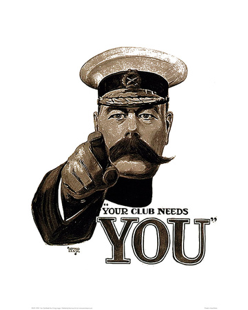Your Club Needs You Giclee Print