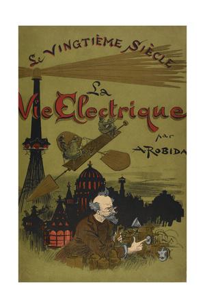 Various Scientific Developments Giclee Print by Albert Robida