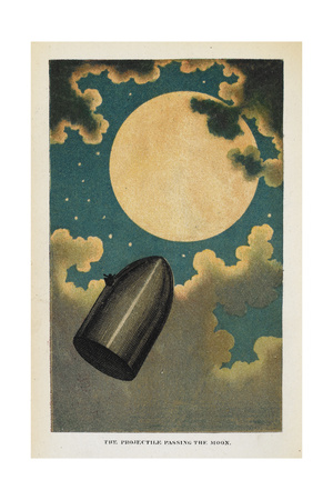 a Spaceship Giclee Print by Jules Verne