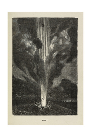 Fire Giclee Print by Jules Verne
