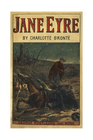 Edward Rochester With His Fallen Horse, in Front Of Jane Eyre Giclée-tryk af Bronte, Charlotte