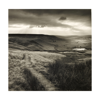 Path and Reservoir Above Lumbutts in Yorkshire. Photographed For 'Remains Of Elmet' by Ted Hughes Giclee Print by Fay Godwin