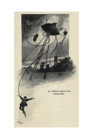 An Illustration From War Of the Worlds Giclee Print by Herbert Wells