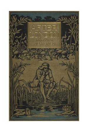 A Man Sitting by a Pond Giclee Print