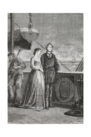 Phileas Fogg and Aouda Giclee Print by M.M. De Neuville