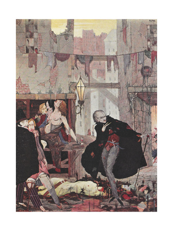 Man Of the Crowd Giclee Print by Harry Clarke