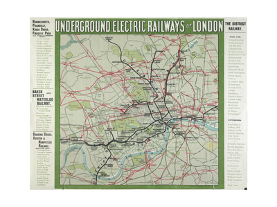 The London Underground Giclee Print