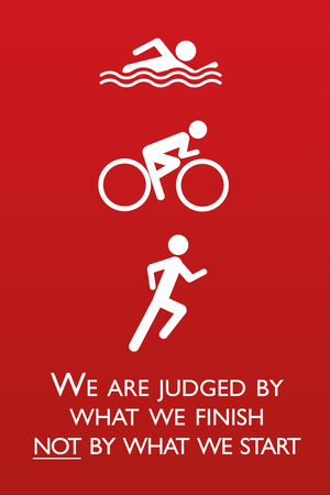 Triathlon Motivational Quote Sports Posters