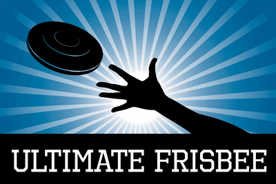 Ultimate Frisbee - Blue Sports Prints