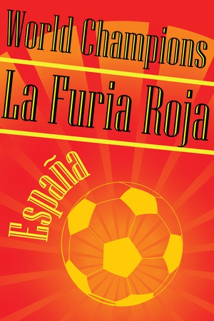 Spain 2010 World Cup Champions Sports Posters