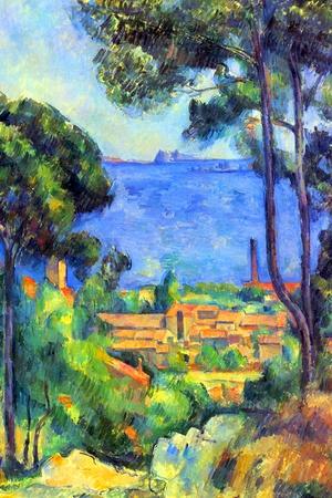 Paul Cezanne Landscape Poster by Paul Cézanne