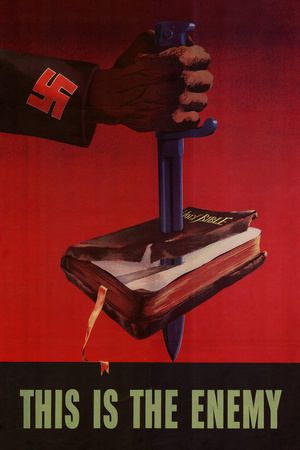 This is the Enemy Anti-Nazi - WWII War Propaganda Prints