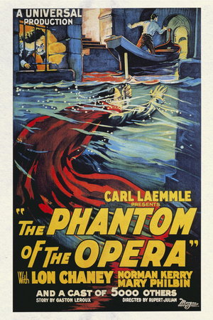 Phantom of the Opera Movie Lon Chaney 1925 vintage movie poster