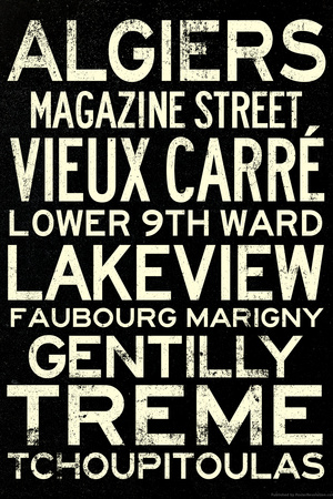 New Orleans Neighborhoods Travel Prints