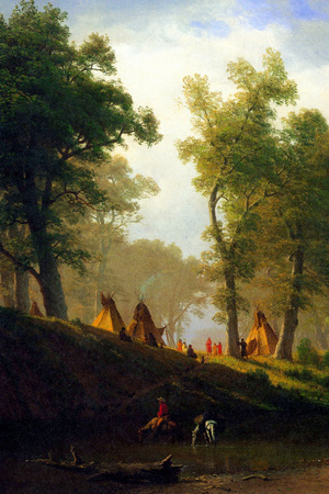 Albert Bierstadt Wolf River Kansas Posters by Albert Bierstadt