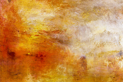 Joseph Mallord Turner Sun Setting over a Lake Posters by J. M. W. Turner