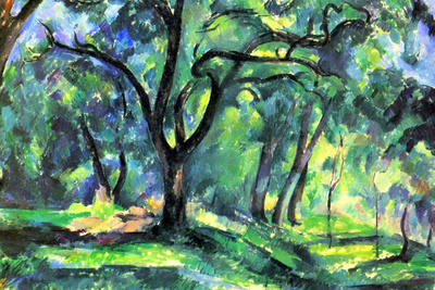 Paul Cezanne In the Woods Art by Paul Cézanne
