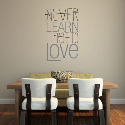 Learn to Love Quote Grey Wall Decal Wall Decal