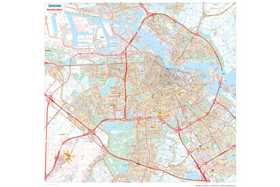 Michelin Official Amsterdam Street Map Poster Posters