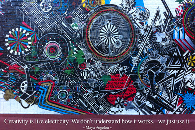 Maya Angelou Creativity Quote Photo