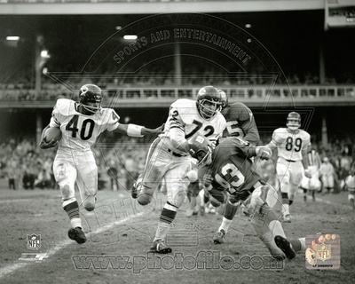 NFL Gale Sayers 1965 Action Photo