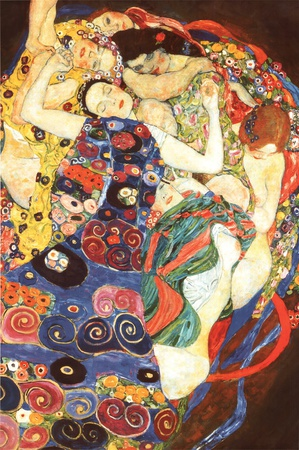 Gustav Klimt Virgin Art Print Poster Poster von Gustav Klimt