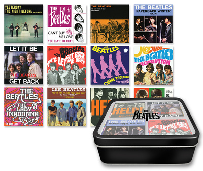 The Beatles Albums 12 pc. Magnet Set with Tin Box Imán