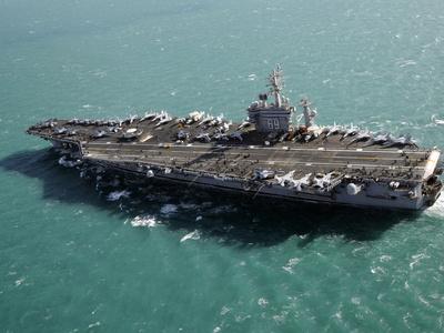 Aircraft Carrier USS Dwight D. Eisenhower Sails Through the Meditteranean Sea Photographic Print by Stocktrek Images