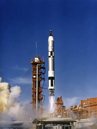 Gemini 12 Astronauts Lift Off Aboard a Titan Launch Vehicle Photographic Print by Stocktrek Images