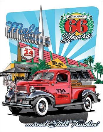 Mel's Diner - 66 Years Tin Sign Tin Sign
