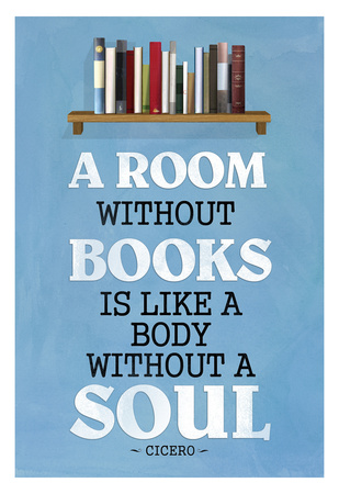 A Room Without Books Cicero Quote Posters