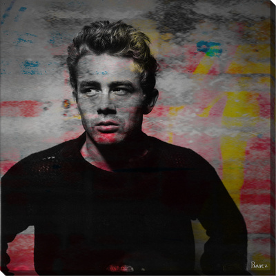 James Dean Torn Sweater Gallery Wrapped Canvas by Parvez Taj