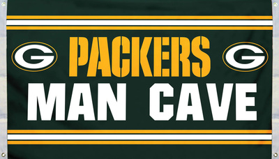 NFL Green Bay Packers Man Cave Flag with 4 Grommets Flag