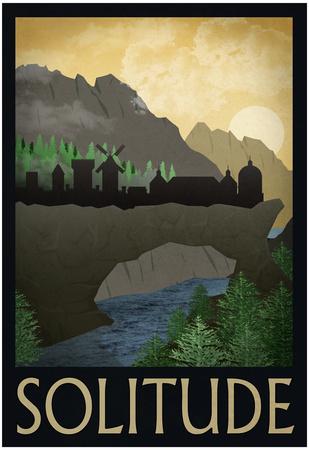 Solitude Retro Travel Poster Posters