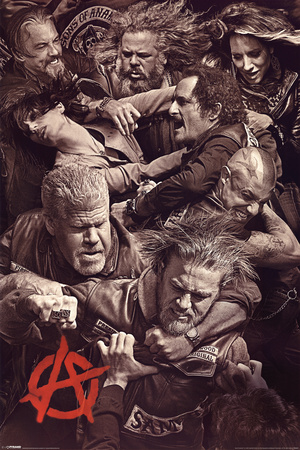 Sons of Anarchy - Fighting Television Poster Prints