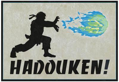 Hadouken Video Game Poster Stampa