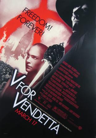 V For Vendetta Movie Poster Prints