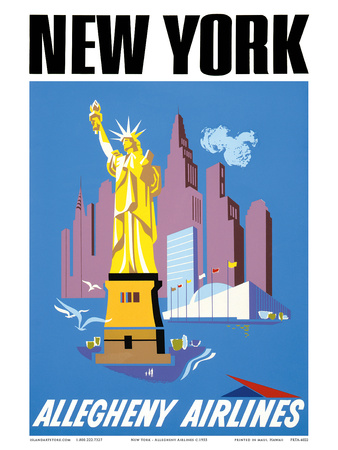 New York - Allegheny Airlines Art