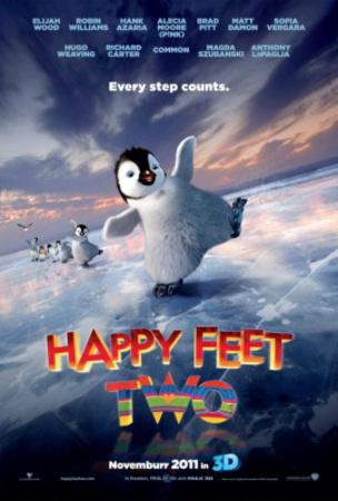 Happy Feet Two (Brad Pitt, Matt Damon, Sofia Verger) Movie Poster Photo