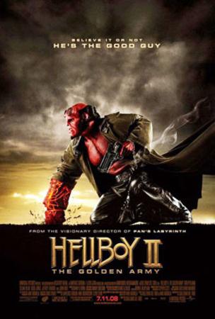 Hellboy II: The Golden Army Movie Poster Lámina