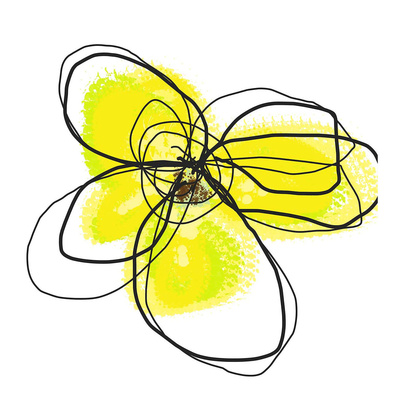 Yellow Petals Two Poster by Jan Weiss