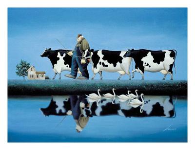 Delta Cows Prints by Lowell Herrero