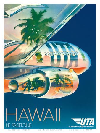 Union de Transports Aériens (UTA) - Hawaii, Le Pacifique (The Pacific) Art