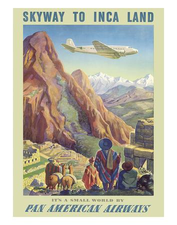Skyway to Inca Land - Pan American Airways (PAA) Giclee Print by Paul George Lawler