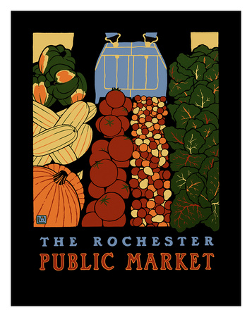 Public Market Posters by Laura Wilder