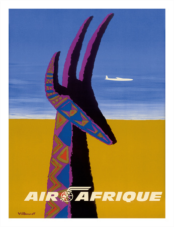 Air Afrique - Gazelle Giclee Print by Bernard Villemot