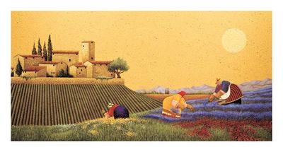 Hillside Flowers Posters by Lowell Herrero