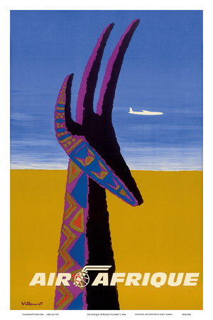 Air Afrique - Gazelle Poster by Bernard Villemot