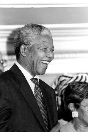 Nelson Mandela Photographic Print by Vandell Cobb